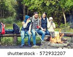camping  travel  tourism  hike... | Shutterstock . vector #572932207