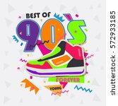 best of 90s illistration with... | Shutterstock .eps vector #572933185