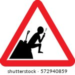vector icon road sign which... | Shutterstock .eps vector #572940859