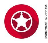 sheriff star icon | Shutterstock .eps vector #572944555