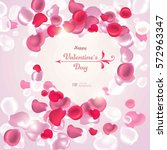 valentine's day. abstract... | Shutterstock .eps vector #572963347