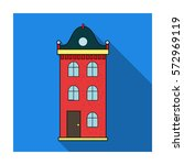 building icon in flat style... | Shutterstock .eps vector #572969119