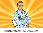 doctor therapist confident... | Shutterstock .eps vector #572969329