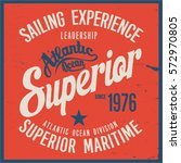 vintage nautical graphics and... | Shutterstock .eps vector #572970805