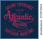 vintage nautical graphics and... | Shutterstock .eps vector #572972914