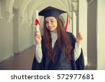 Happy Woman On Her Graduation...