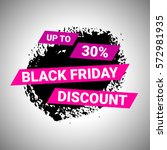 black friday discount banner... | Shutterstock .eps vector #572981935