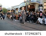 """Small photo of LOS ANGELES - FEB 4: Coco Rocha (Blonde), models at the Rebecca Minkoff's """"See Now, Buy Now"""" Fashion Show at Grove on February 4, 2017 in Los Angeles, CA"""