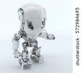 two robotic bbot robots back to ... | Shutterstock . vector #572984695