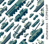 Seamless Pattern Of Military...