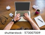 businessman working with a... | Shutterstock . vector #573007009