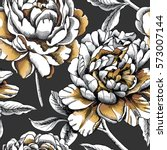 seamless pattern with silver... | Shutterstock .eps vector #573007144