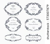 collection of vintage patterns. ... | Shutterstock .eps vector #573007879