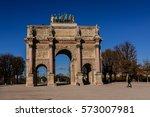 triumphal arch  arc de triomphe ... | Shutterstock . vector #573007981