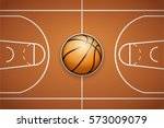 poster template with basketball ... | Shutterstock .eps vector #573009079