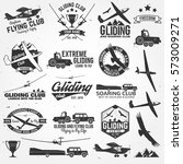soaring club retro badges and... | Shutterstock .eps vector #573009271