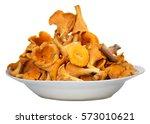 bunch of wild forest mushrooms...   Shutterstock . vector #573010621