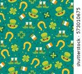 st. patrick's day seamless... | Shutterstock .eps vector #573010675