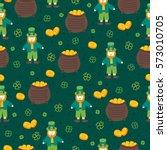 st. patrick's day seamless... | Shutterstock .eps vector #573010705