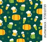 st. patrick's day seamless... | Shutterstock .eps vector #573010735