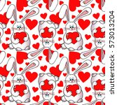 seamless pattern with lovely...   Shutterstock . vector #573013204