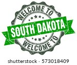 south dakota. welcome to south... | Shutterstock .eps vector #573018409