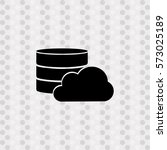 pictogram database with cloud... | Shutterstock .eps vector #573025189
