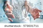 businessman on blurred... | Shutterstock . vector #573031711