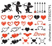 love theme set  cupids  amours  ... | Shutterstock .eps vector #573032791