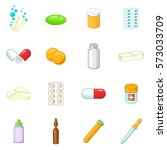 medicine drugs icons set.... | Shutterstock . vector #573033709