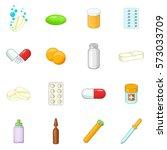 medicine drugs icons set.... | Shutterstock . vector #573033709