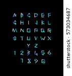 neon font on black background | Shutterstock .eps vector #573034687