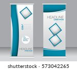 roll up banner stand template.... | Shutterstock .eps vector #573042265