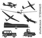 set of vintage gliding elements ... | Shutterstock .eps vector #573044635
