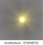 glow light effect. star burst... | Shutterstock .eps vector #573048721