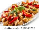kebabs   grilled meat and... | Shutterstock . vector #573048757