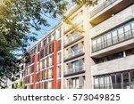 new apartment houses in berlin   Shutterstock . vector #573049825