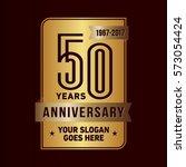 50 years anniversary logo....   Shutterstock .eps vector #573054424