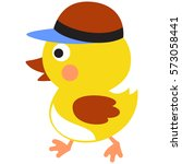 Duckling Hat. Vector...
