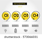 yellow infographics with...   Shutterstock .eps vector #573066031
