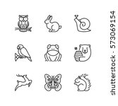 thin line icons set about... | Shutterstock .eps vector #573069154