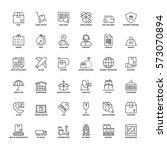 outline icons set. flat symbols ...   Shutterstock .eps vector #573070894