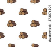 stack of logs icon in cartoon... | Shutterstock .eps vector #573076804
