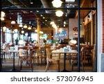 abstract blurred restaurant  ... | Shutterstock . vector #573076945