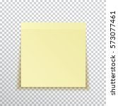 template yellow sticky note... | Shutterstock .eps vector #573077461