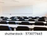 white classroom in education...   Shutterstock . vector #573077665