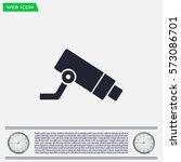 video surveillance cctv camera  ... | Shutterstock .eps vector #573086701