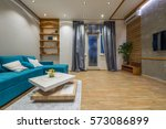 interior design of modern... | Shutterstock . vector #573086899