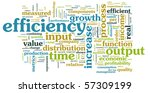 efficiency in the work place as ...   Shutterstock . vector #57309199