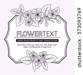 botanical illustration with...   Shutterstock .eps vector #573093769